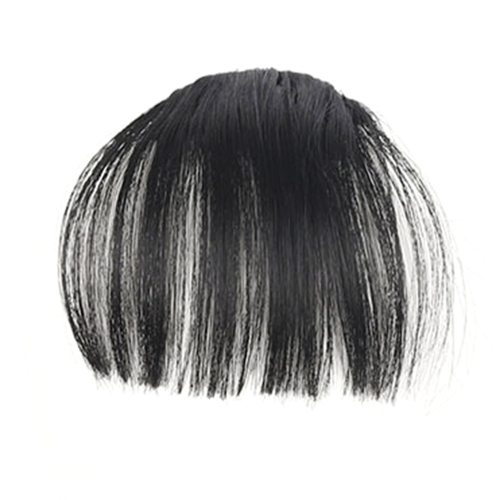 Fashion Air Fringe Bang Women Wigs Front Neat Bangs with Clip In Girl Hair Extensions great choice for those who want to change their hair styles in