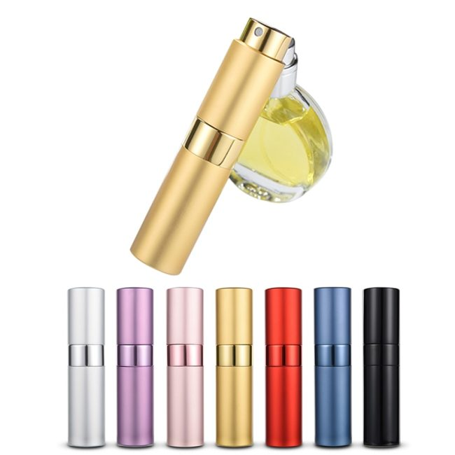Rotation Type Spray Refillable Container Atomizer Perfume Bottle Portable Cosmetic Aluminum Pump Empty Travel Description:Portable travel refillable
