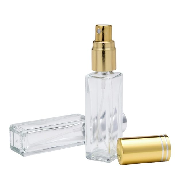 8ML UV Cap Square Transparent Glass Spray Perfume Bottle Cosmetic Massage ideal for placing in your handbag in travel