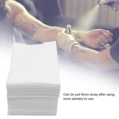 50pcs Disposable Tattoo Wipe Paper Towel Tissue Body Art Permanent Makeup Tattoo Cleaning Tools Tattoo enough for your useFeatures:Made from quality