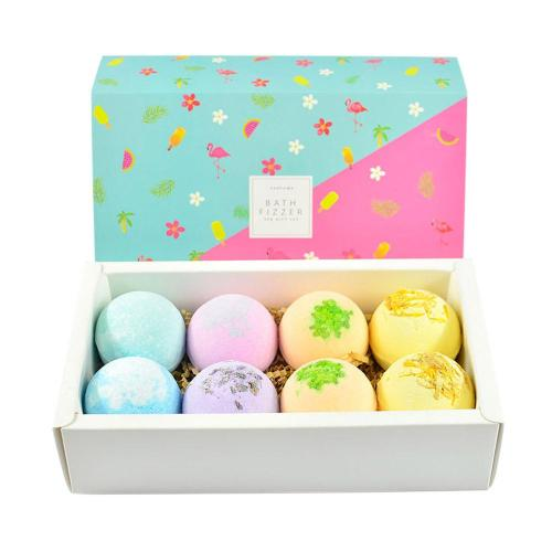 8pcs Bath Bombs Body Cleaner Multi-color Spa Essential Oils Bath Bomb Kit Moisturizing Dry Skin & Deep can effectively soften horniness and skinGreat
