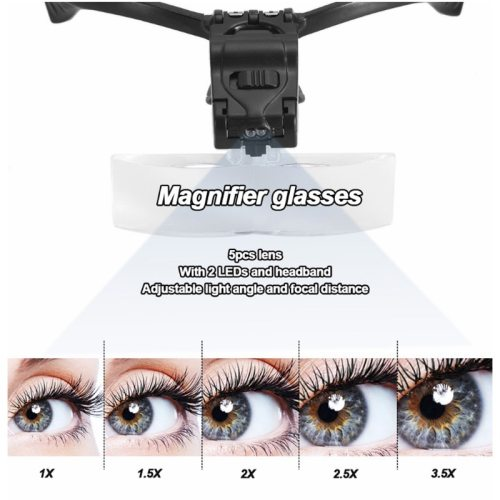LED Magnifier Magnifying Glass adjustable Eyelash Extension Light Spec Temporary Tattoo Suppliers 3 times;Size: 23*135*7cmPower supply: 3 button not