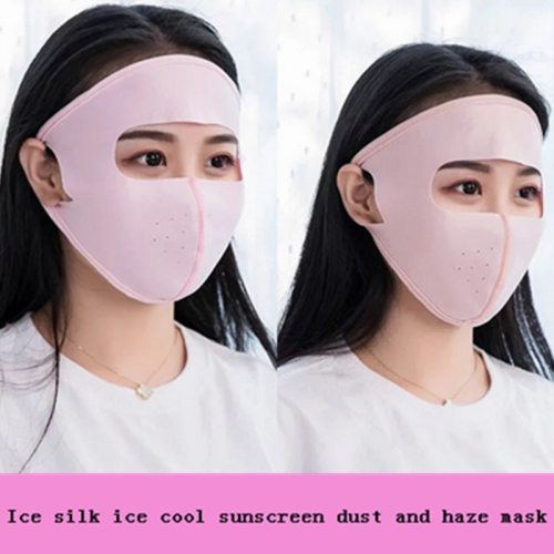 1 Pc Ice Silk Ice Cool Sunscreen Dust and Haze Mask Health Care Detoxifying Face your ears will not feel pain
