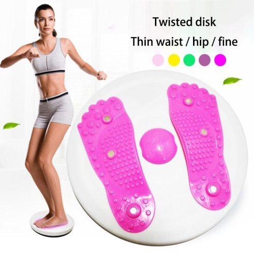 Domestic Fitness Equipment Body Shaper Twist Waist Disk Gym Equipment Beauty Leg Slimming Name: twist waist diskColor: pinkSize: 28 * 28 * 5 1000