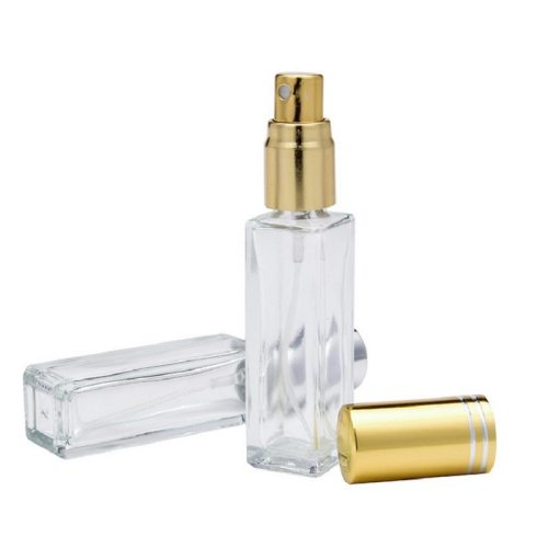1 PC Transparent Square Glass Perfume Spray Bottle Cosmetic 1 transparent square glass perfume spray bottleCapacity 10ml