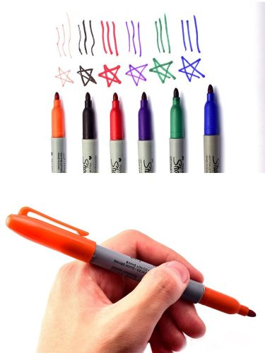 6Colors Delineating Painting Watercolor Pens Tattoo Net Weight: 64g Tattoo Suppliers