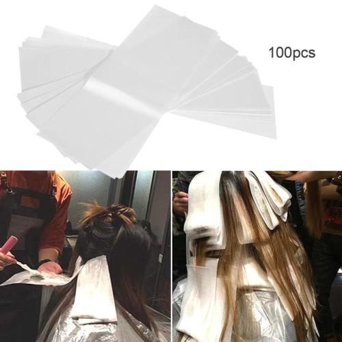 100pcs/pack Pro Salon Hair Dye Paper Recycleable Separating Stain Dyeing Color Product size: about 30*95cm/1181*374  Quantity: 100pcs Wavying