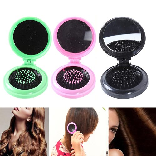 1 Piece Hair Comb Folding Massage Hair Brush Round Mini Airbag Rainbow Comb With Description:100%Brand new and high qualitySmall <10 cm Shaping