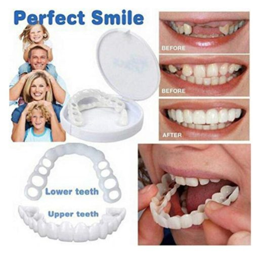 2 Pieces Silicone Fitting Top & Bottom Plate Cosmetic Cover Teeth Description:Function: Antibacterial / Gum CarePackage List:2*Teeth BracesNote:Light