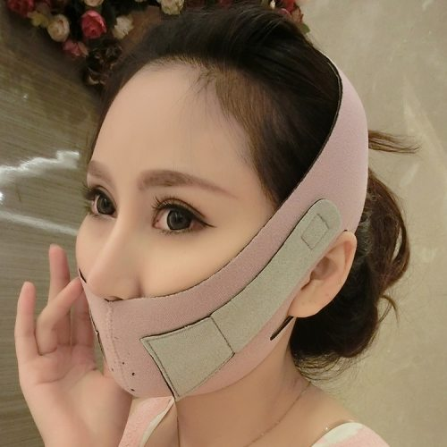 Health Care Lift Up Belt Thin Slimming Facial Thin Masseter Double Chin Fat Burning Face Product Description:Color:Pink Method of use:Put your hair