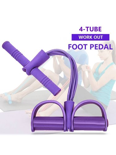 Elastic Band Waist Fat Burning Buliding Slimming Exercise Size:52cm*26cmNote:1 Four ropes are included in the saleThe yoga mat is not included2 The