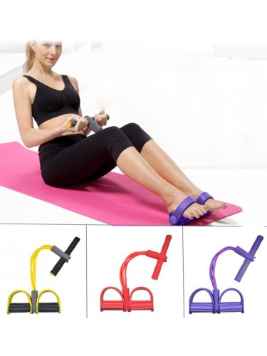 Fitness Resistance Bands Latex Pedal Exerciser Slim Weight Loss Hip Shaping Function: Slimming