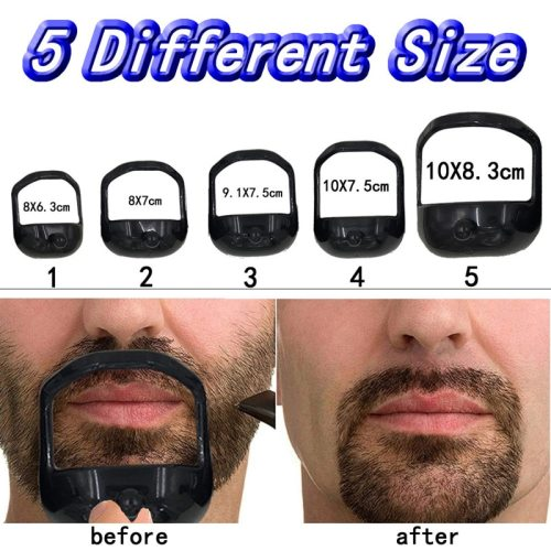 Style Template of No7 Goatee Beard Shaper Men's Beard Shaping One set of 5 sizes: 83 * 10 cm/75 * 10 cm/75 * 91 cm/7 * 8 cm/63 * 8 cmWeight: 715g/ 5