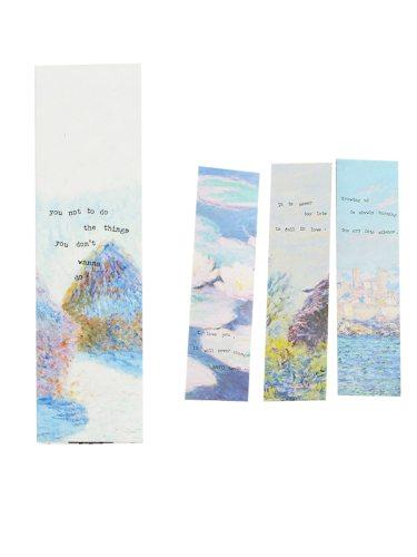 30Pcs Kid's Bookmarks Colorful Simple Design Floral Size:15cm*4cm