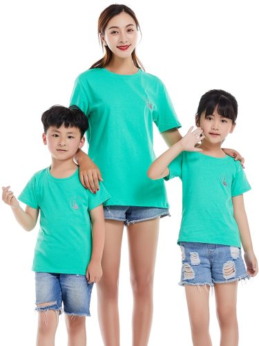 One Piece Top Family Outfit Simple Fashion T Shirt Boys & Girls Tops Family Outfit Crew Neck Print Short Sleeve Embroidery