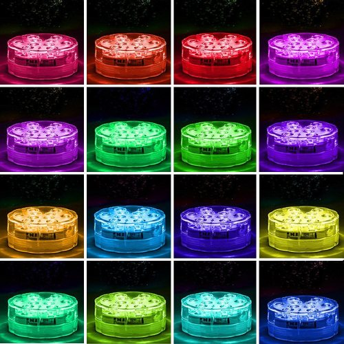 Remote Control Battery-Powered IP68 Waterproof RGB LED party