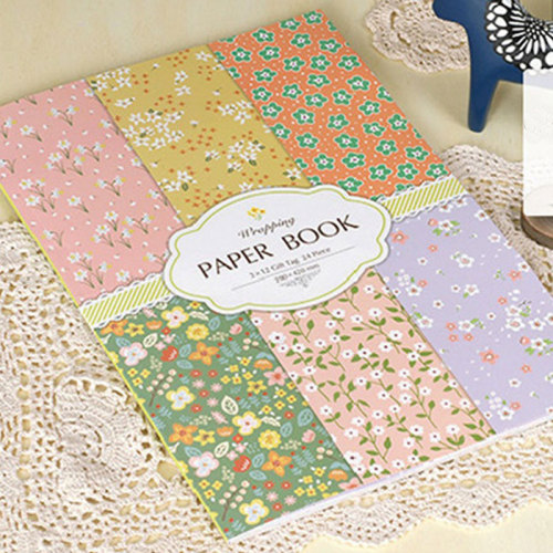 24 Sheet DIY Book Covers Pastoral Style Floral Pattern Gift Packaging Others