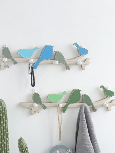 Home Essential Hooks Retro Style Bird Shaped Wall Decorative size:48*10CM