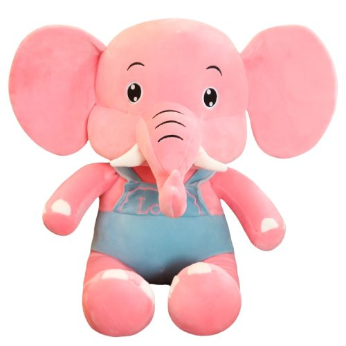 One Piece Plush Toy Cute Soft Sitting Elephant Shaped Comfortable 10-14 Years Old Others Stuffed Animal Toy size: 55*40cm