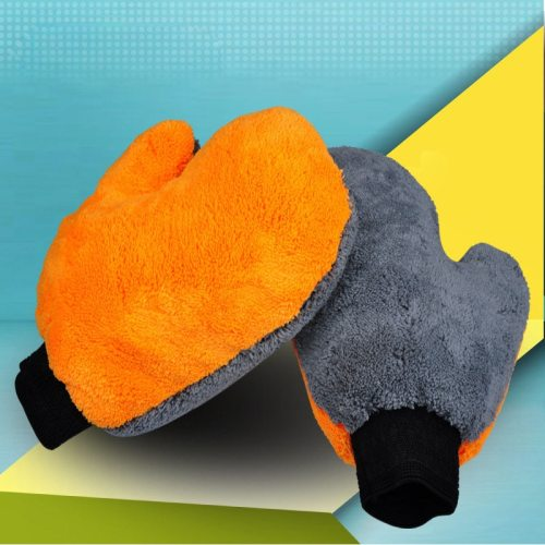 1 Piece Multifunctional Cleaning Glove Double-sided Coral Fleece Car Wash