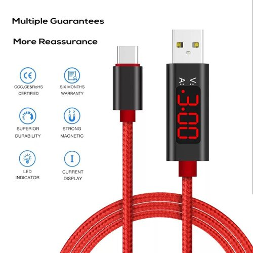 Data Cable QC 30 Fast Charging Nylon Braided Data Sync Cable For iPhone Samsung Huawei Nokia Android Luminous