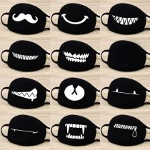 1 Piece Mouth Mask Creative Teeth Pattern Warm Breathable Winter Face comfortable and breathable