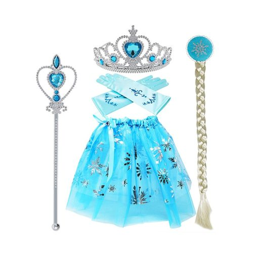 4 Pcs Cosplay Costumes Set Bow Decoration Fashion Casual 10Y Sleeveless Cartoon All Pleated Girl