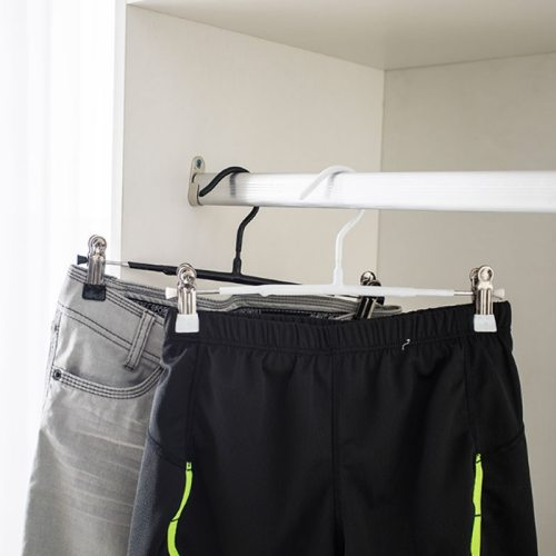 2Pcs Hangers Wardrobe Pants Rack With Clip Home Drying
