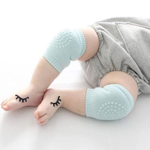 One Pair Baby's Knee Pads Solid Color Anti-slip Soft Thick Size: 13*8CM Unisex