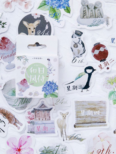 45 Pcs/Pack Stickers Lovely Creative Animal Cartoon Design Size: 7*7*1cm Fresh Finance Shape Multi Stickers Set
