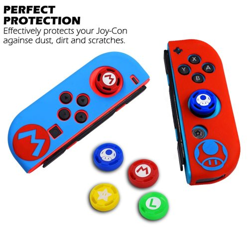 Protective Case Silicone Case with Thumb Stick Caps for Nintendo Switch Controller Grip Protect your controller from bump and scrape4Ergonomic design