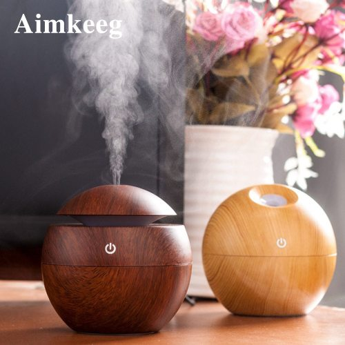 USB Aromatherapy Essential Oil Diffuser Mini Ultrasonic 7 Color Changing LED Night Light Humidifier Air cooking