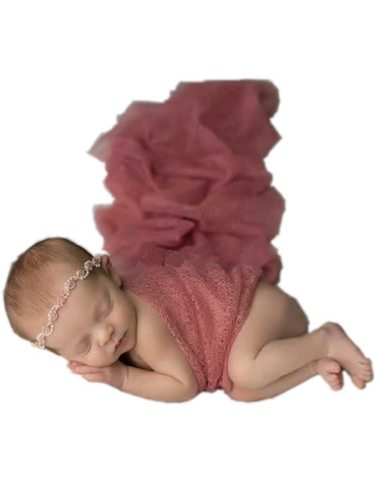 Baby's Photography Blanket Gauze Newborn Posing Color Original Baby's Photo Solid Hollow out Size: about 50*160 cmWeight: about 35g