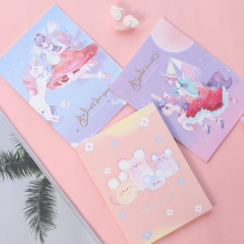 4 Pieces Cards Simple Creative Handmade Greeting Gift The envelope is 158 * 115 cmThe card size is 146*11 cm