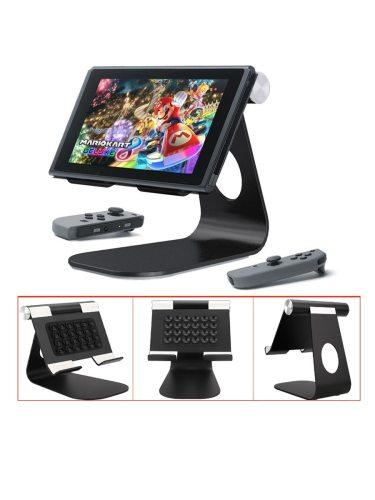 Multi-Angle Stand For Nintendo Switch Aluminum Tablet Hardcore Level Others FeaturesMade of aluminum alloy180° rotatableAdjustable material: weight: