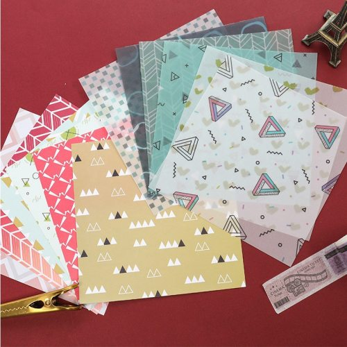 24 Pieces Papers Peaceful Life Print Noteboook Sticker size:149*149cm 32K Color Paper