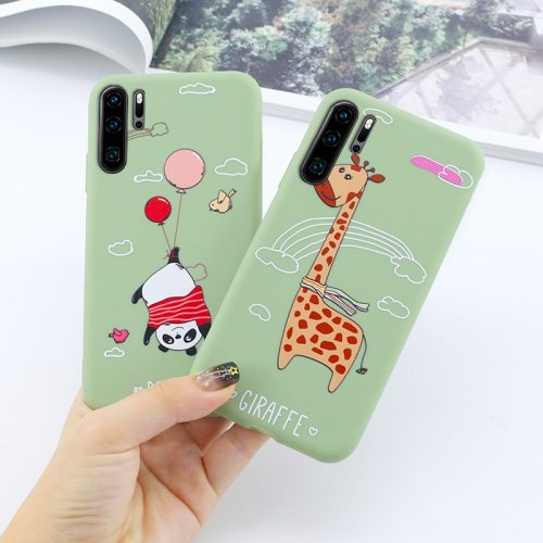 P30/ P30 Pro/P30 Lite/Mate 20 X/Mate 20 Lite Phone Cover Creative Lovely Animal Pattern Huawei Soft Shatter-Resistant Simple