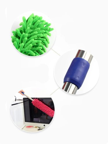 Car Duster Hosehold Dual-Use Chenille Dust Removal Car Cleaning Aluminum Duster/Wax Mop Fiber easy care2 The armpit hair is made of cotton yarn