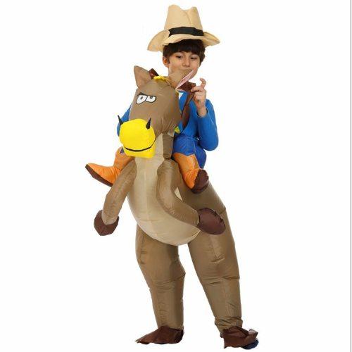 Costume Pony Inflatable Unicorn Dinosaur Parent-Child Performance Cosplay Sleeveless 4Y Cosplay Coat Unisex All Appliques Animal