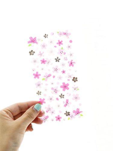 6Pcs Oriental Cherry Stickers Sakura Stickers Handbook Decor Multi Stickers Set Finance Simple Shape