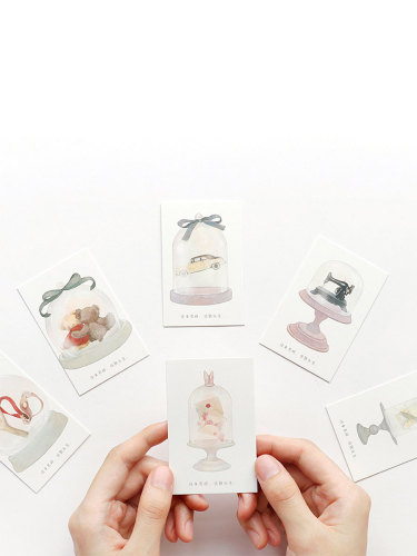 28 Pcs Greetings Cards Creative Fresh Style DIY size:8*6*1cm Gift Vintage Single Page Cards