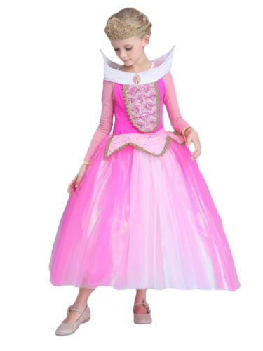 Toddler Girls Princess Sequins Exquisite Dress For Cosplays