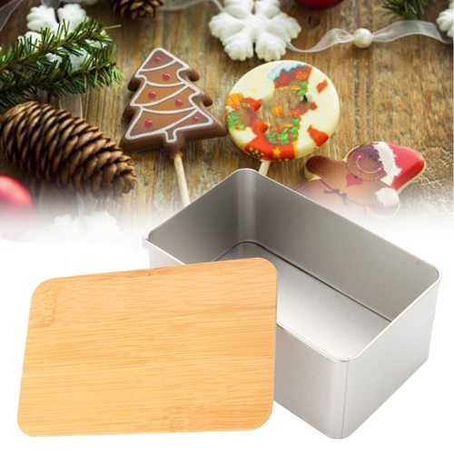 Bamboo Lid Metal Tea Storage Box Kitchen Food Bread Sugar Organizer Shipping Unrestricted None non-toxic and durable- Would look great on a kitchen