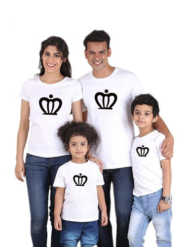 Family Outfit T Shirt Breathable Colorblock Chic Fashion Crew Neck Boys & Girls Short Sleeve Print 1 Tops Family Outfit