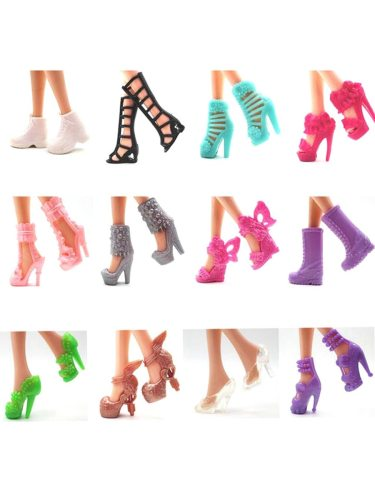 40 Pairs Dress Up Toy High Heels Simulation Fashion Creative 1100% brand new and high quality240 pairs fashionable shoes for barbie and easy to and