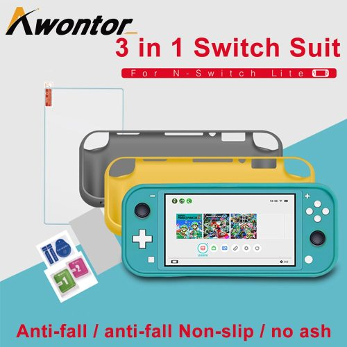 3 In 1 Protective Case Set Protective Cover + Tempered Film + Cleaning Entry Level Screen Protector easy to play3 Small grip on the back: feels more