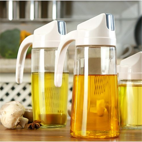 1 Piece Oil Dispenser Household Versatile Transparent Leak Proof Kitchen which is not resistant to high temperature Please do not use heat or rinse