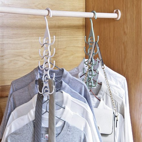 3Pcs Home Clothes Hangers Set Multi-functional Bags Hanging Product size: 115*363cm