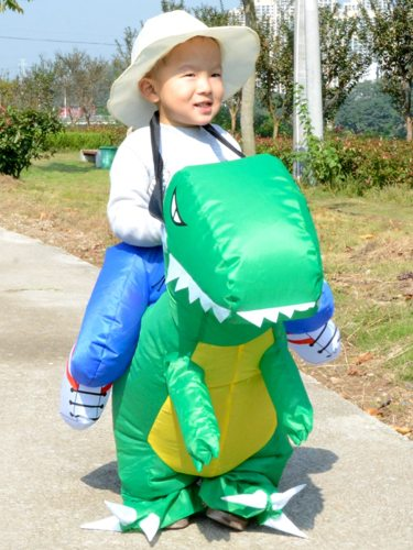 1 Pc Boy's Costume Creative Dinosaur Design Holiday Cosplay Cosplay Coat 120cm	suitable for height 80CM-120CM150cm	suitable for height for height