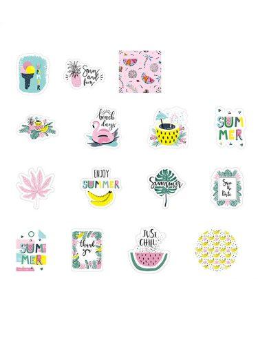 45 Pcs DIY Stickers Fresh Style Cartoon Printed Decorative Finance Multi Stickers Set Letter Vintage